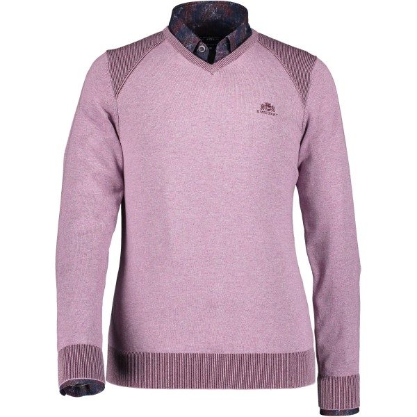 State of Art pullover trui v hals roze 29028-6169