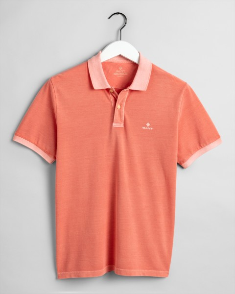 Gant polo korte mouw washed orange 2052028-850