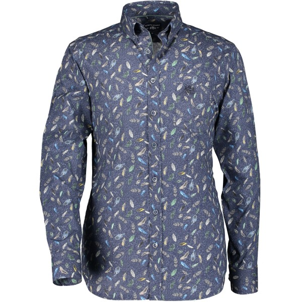 State of Art overhemd shirt print groen 29222-3659