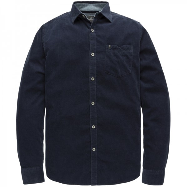 Vanguard overhemd regular fit corduroy donkerblauw