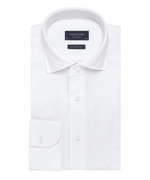 Profuomo Originale The knitted shirt Wit PP0H0A049
