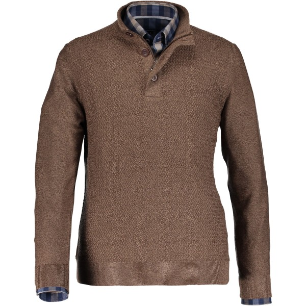 State of Art pullover rits bruin 29058-8514