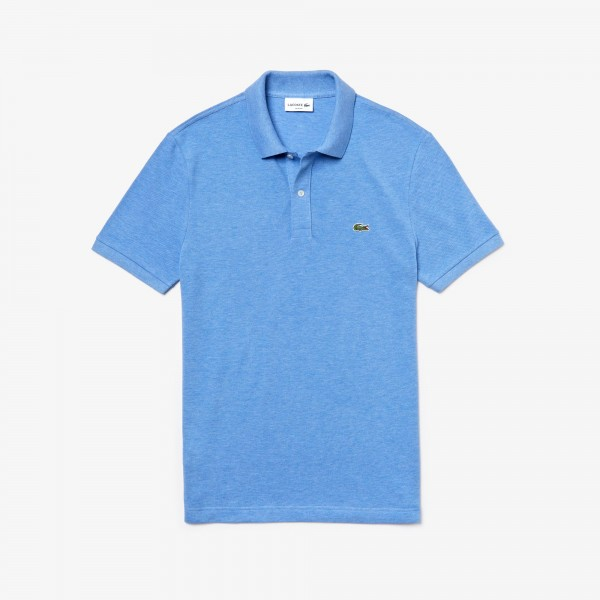 Lacoste polo Slim fit effen pique blauw PH4012-EUA