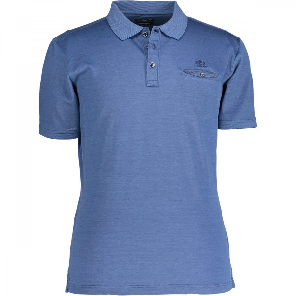 State of Art polo SS blauw 19250-5300 Bas de Wit mode Leiden