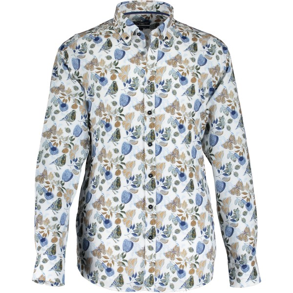 State of Art overhemd shirt print bloem 10214-5784