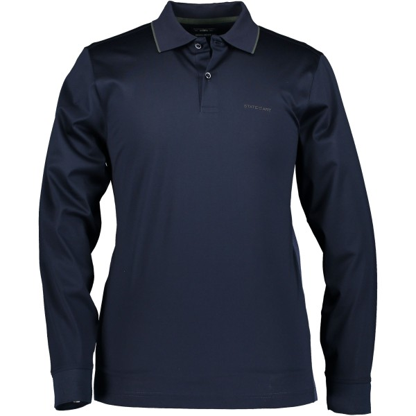 State of Art polo lange mouw blauw 29371-5939