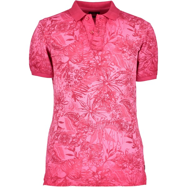 State of Art polo korte mouw print roze 19482-6600