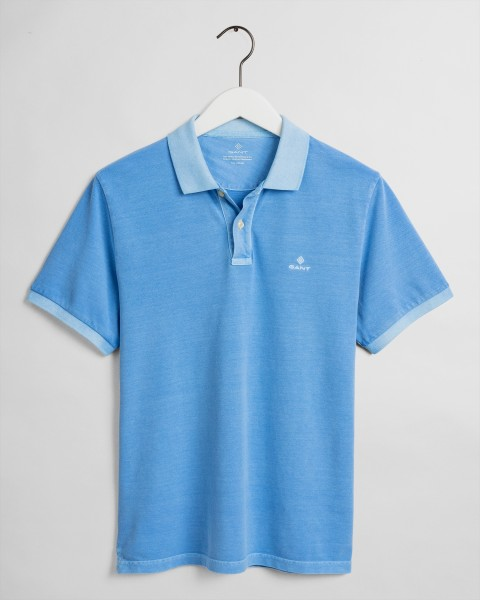 Gant polo korte mouw washed blue 2052028-445