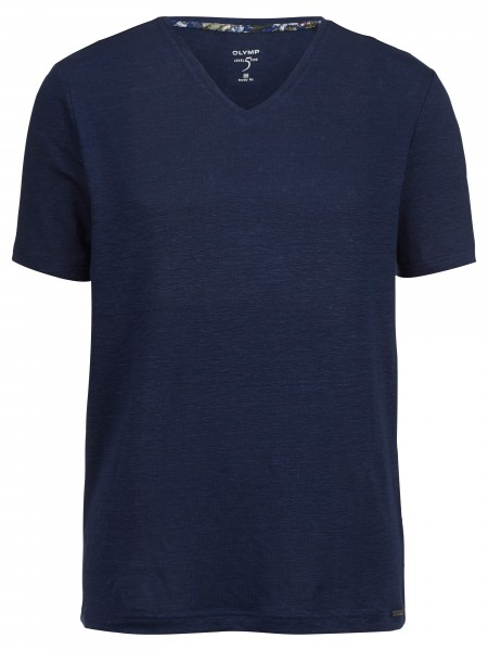 Olymp Level 5 t-shirt hals blauw 566152-13