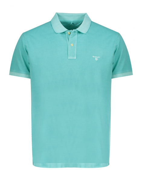 Gant polo korte mouw washed Poolgreen 2052028-355