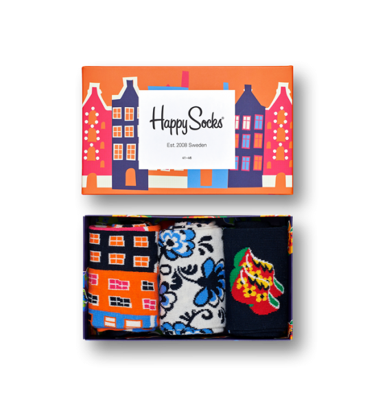 Happy Socks Dutch Edition giftbox oranje SXDUT08
